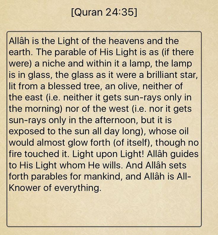 Surah An-Noor Verse 35