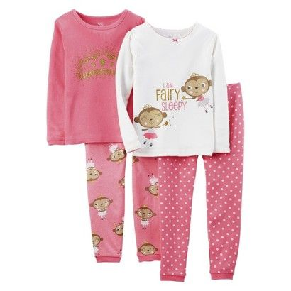 Just One You™Made by Carter's® Infant Toddler Girls' Pajama Set - Pink/White