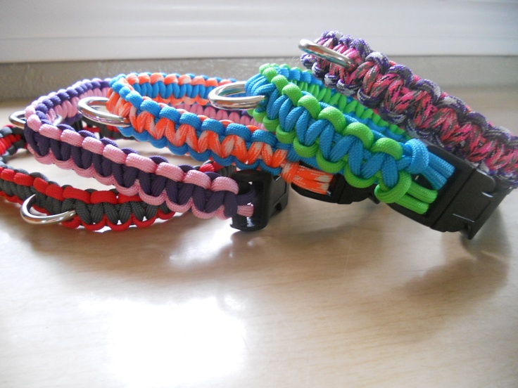Paracord cute bracelets and collars on pinterest for Paracord leash instructions