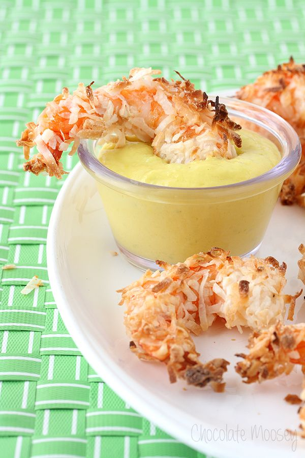 Baked Coconut Shrimp with Mango Jalapeno Dipping Sauce