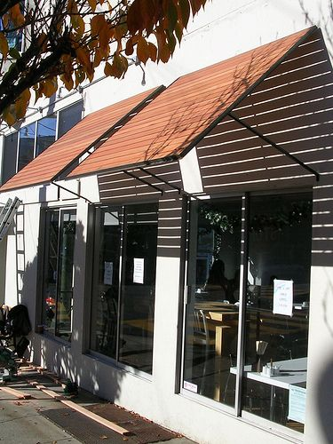 Thaihouse Express Wood Slats Awnings Over Windows