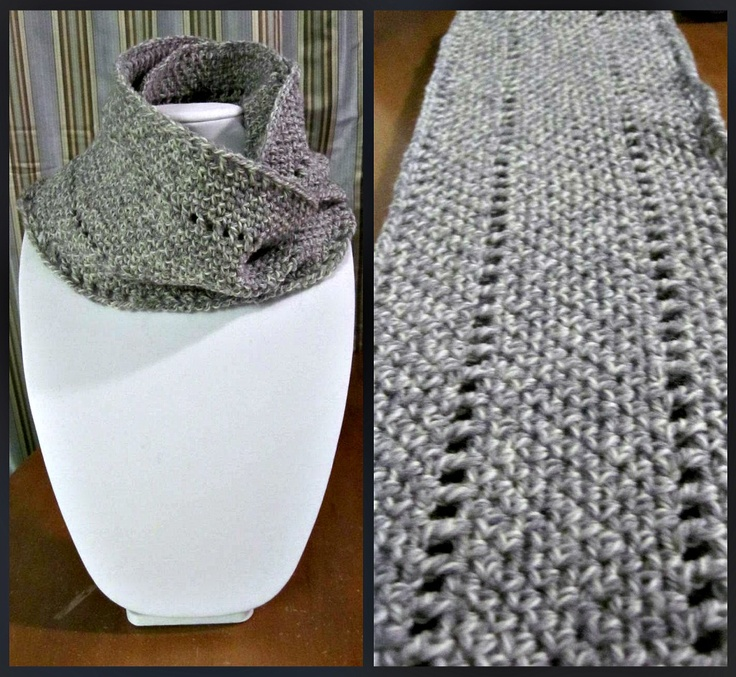 Lovely wool scarf, made up the pattern as I went :)