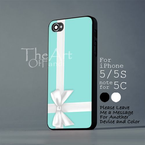 gift packing tiffany color - iPhone 5 5S Black Case - Note For 5C