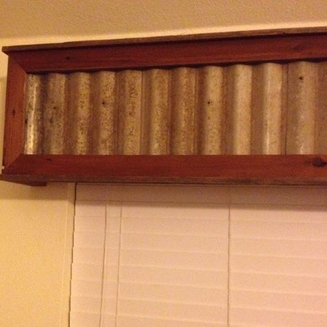 Reclaimed Wood With Tin Insert Window Valance Stuff In