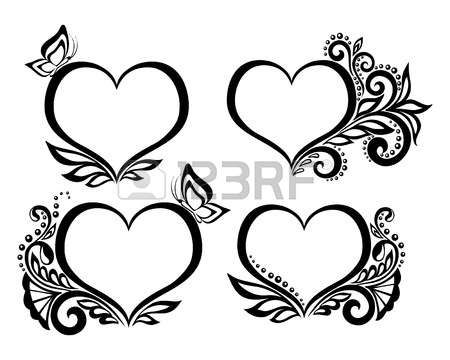 Hearts And Flowers Stock Photos Images. Royalty Free Hearts And ...