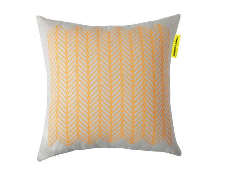 Cable Saffron Cushion