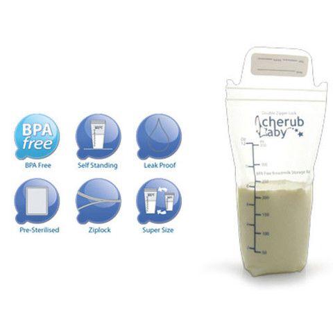 Cherub Baby Breastmilk Storage Bags – breastfeedingsupplies