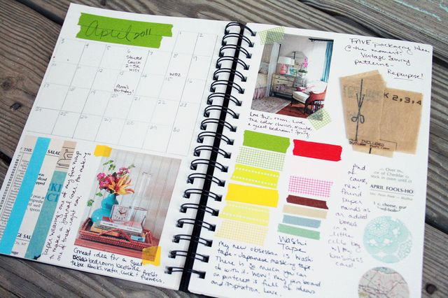 inspiration journal with monthly calendar | #calendar #inspiration #journal #planner