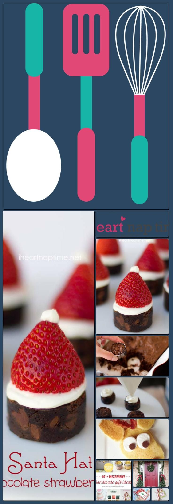 how to make strawberry santa hats