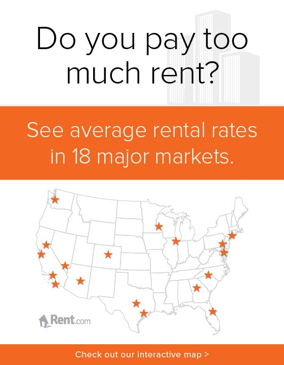 Best Renter Images On Pinterest Apartment Living - Map of average rents across the us in major cities