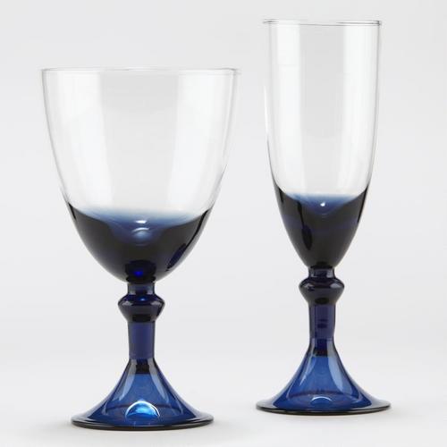 One of my favorite discoveries at WorldMarket.com: Sofia Blue Glassware