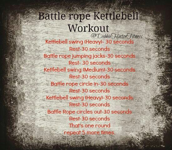 #workouts #battlerope #kettlebell