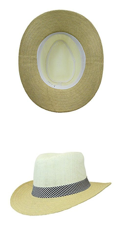 a6feae28 Natural Summer Gambler Sun Hat w/ Striped Satin Band, Outback Raffia Beach  Cap in 2018 | Sun Hats | Pinterest | Sun hats, Hats and Sun
