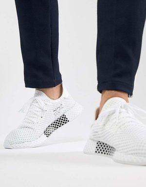 db539073785a3 Adidas Originals Deerupt Runner Trainers In White Cq2625