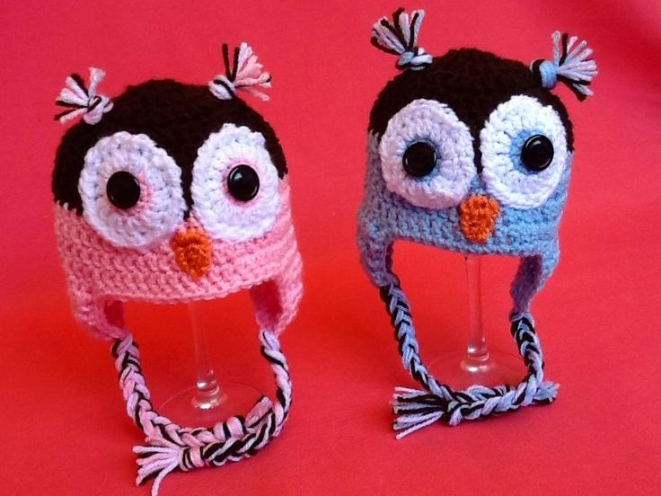 Animal beanies! See Handmade Treasures on Facebook for more!