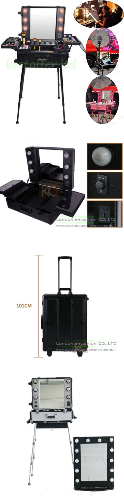 Makeup Bags and Cases: Makeup Storage Box Train Cosmetic Luggage Organizer Studio Beauty Rolling Mirror -> BUY IT NOW ONLY: $359.95 on eBay!