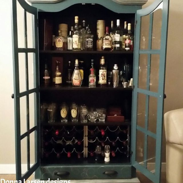 Upcycled Kitchen Cabinets: Upcycled Pantry To Eclectic Liquor Wine Cabinet