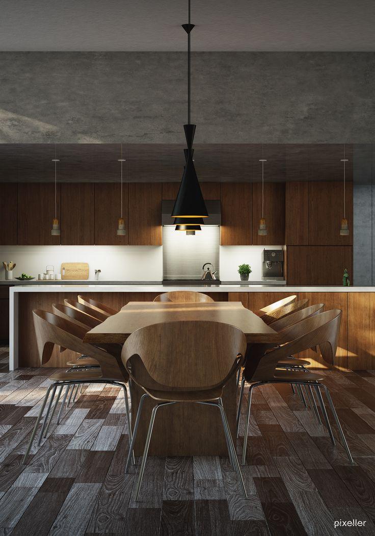 Kitchen design #modern #wood
