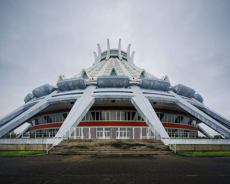 Pyongyang architrecture, Pyongyang Ice Rink - All photos by Raphael Olivier.