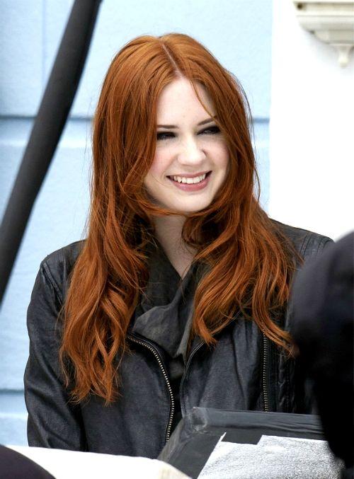 Amy Pond Karen Gillan Red Hair Brown Eyes Karen