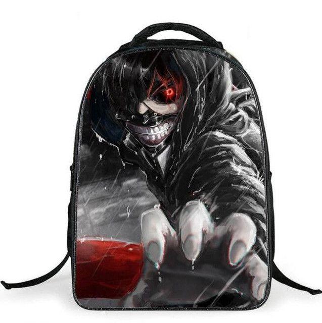 2016 New Fashion Tokyo Ghoul Bag Children Backpacks,Kids Japanese Anime School Bags for Teenagers,Boys Vampiro Cartoon Schoolbag