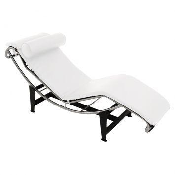 chaise long luxe branca tudo para uma casa