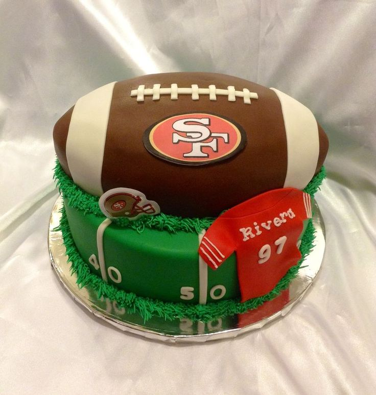 Birthday Cake Design San Francisco : 16 best images about 49ers cake and cupcake ideas on ...