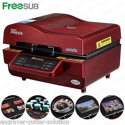 Máquina Prensa De Calor De Sublimación 3D de 220V para casos de teléfono tazas tazas de transferencia de calor