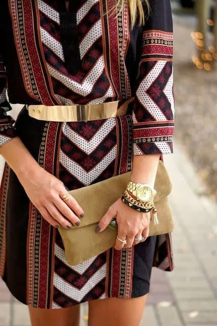 I REALLY love this - the pattern, the belt, the way it hangs... Probably my favorite thing on this board!!