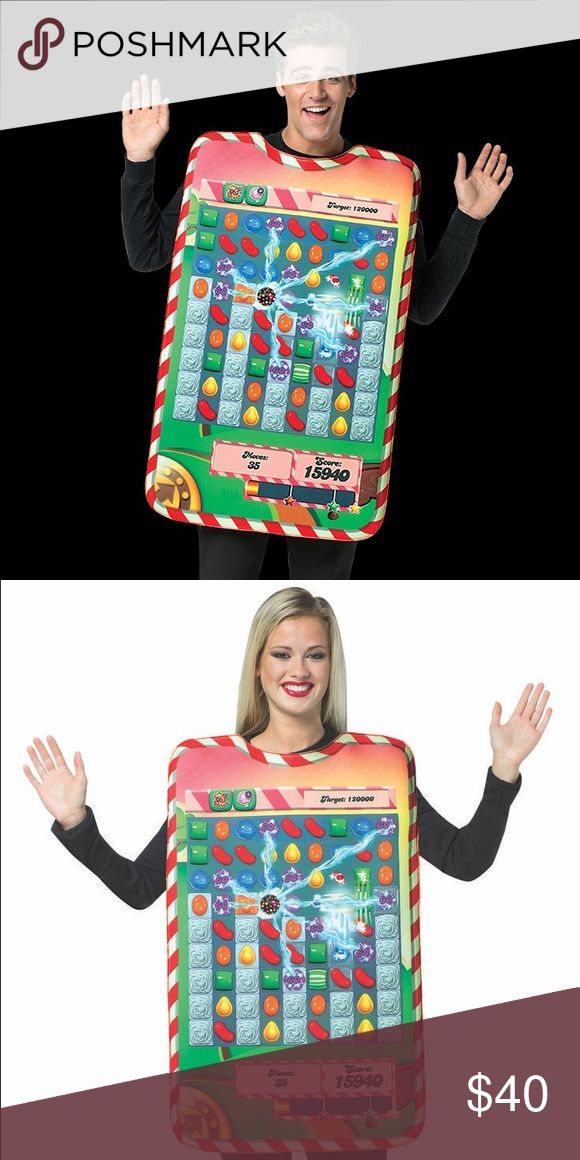 NWT CANDY CRUSH Game Board Tunic Halloween costume BRAND NEW/ ONE PIECE COSTUME / ONE SIZE FITS MOST / Presto you are one of the most popular apps in the world. Order our candy crush board tunic and everyone will want to play with you. The costume is a real conversation piece. Great for guys and girls! Other