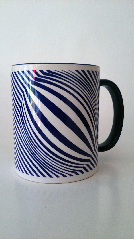 kék illúzió bögre/blue illusion mug www.dekorozmar.hu