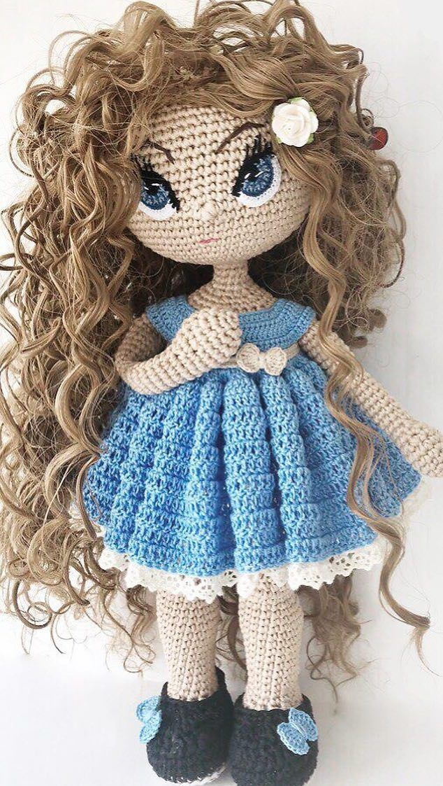 Kendra- Amigurumi Doll Crochet Pattern PDF (con imágenes) | Patron ... | 1123x634