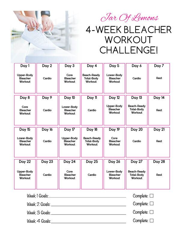 4-Week Bleacher Workout Challenge!
