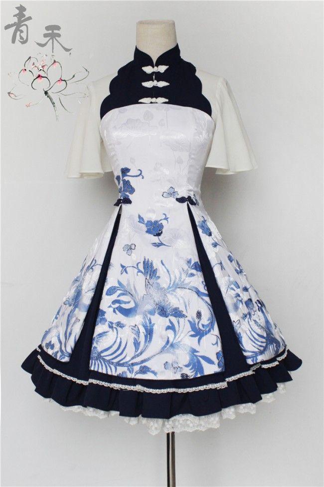 --> Pre-order: Qinghe ~Phoenix and Flower~ Qi Lolita JSK --> Pre-order Price: 84.99USD | After pre-order price: 88.99USD --> Save Now: http://www.my-lolita-dress.com/qinghe-phoenix-and-flower-qi-lolita-jumper-dress-qhl-2
