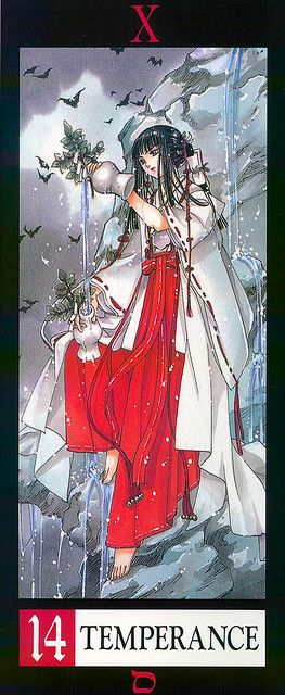"""Clamp X/1999 Tarot  """"Temperance""""  (manga tarot! I love it! Anime fans just try and resist this lol)"""