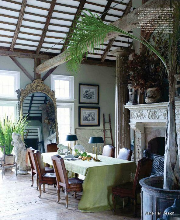 Rustic Style Dining Room Featured In World Of Interior Design Magazine