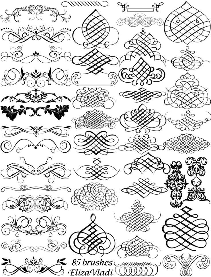 Free brushes (ABR): Calligraphy master  by ~ElizaVladi