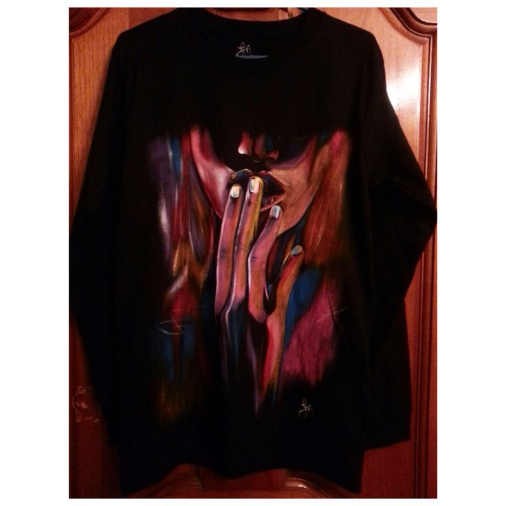 #shhh handmade tshirt painted oil