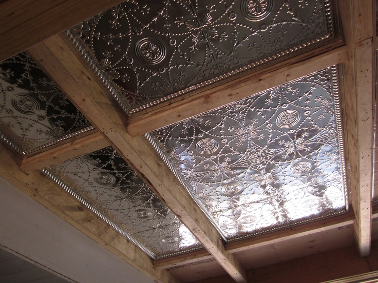 Great ceiling in progress- Tin    Done by Integrity Construction Services, Inc.
