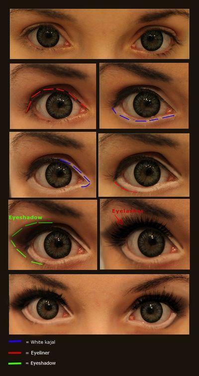 10 Tutoriales de maquillaje para tener unos ojos de anime ,  Katie Kmetty
