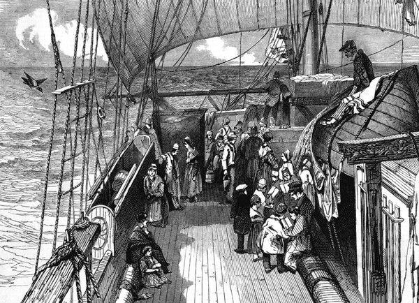 Immigrants on their way to Australia