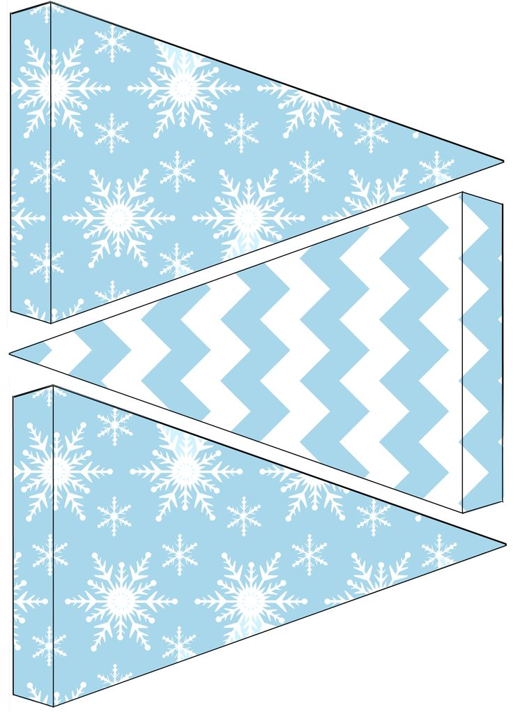 Free frozen birthday party bunting to download - free frozen printable