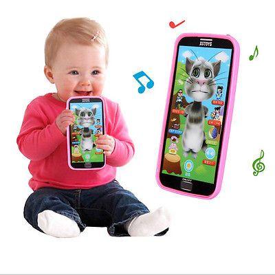 子供たちの子供男の子女の子ギフトおもちゃ1ピース赤ちゃんシミュレーター音楽電話タッチスクリーン子供教育学習玩具