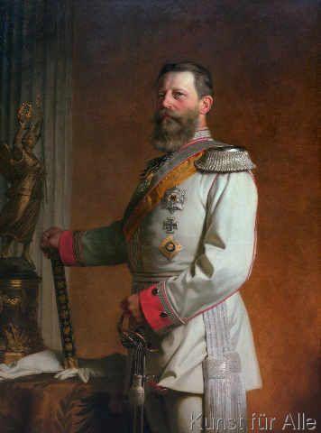 Anton Alexander von Werner - Standporträt Kaiser Friedrich III.