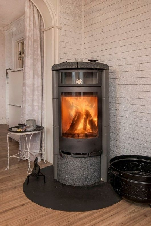 Contura wood stove with baking section.
