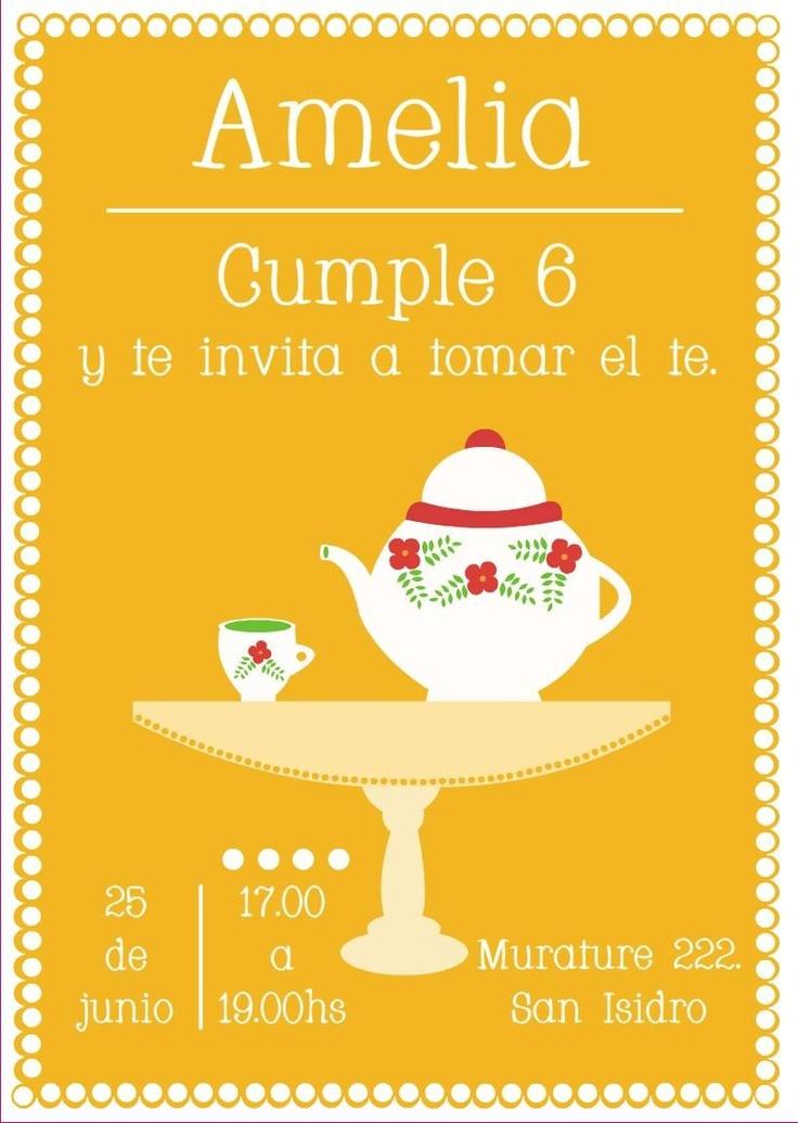 Estamos invitados a tomar el te