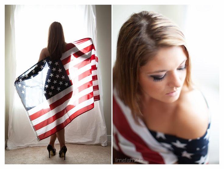 Limefish Studio Photography :: Charlottesville Boudoir Photography :: Boudoir Poses and Ideas :: Virginia Photographer :: American Flag Boudoir