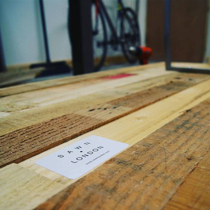 #branded and ready to ship to Natalie at @style_pb Check out her online shop for some sweet deals on swanky gym threads #palletfurniture #diningtable #palletwood #reclaimed #gym #sawnlondon #sawn