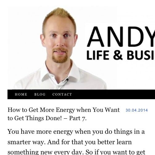 How to Get More Energy when You Want to Get Things Done! – Part 7.  You have #more energy when you #do things in a #smarter #way. And for that you #better #learn something #new #every #day. So if you want to get more energy and want to get things done, #invest an hour every day for #learning!  #inspiration #motivation #dreams #goals #change #challenge #energy #life #flow #free #freedom #winning #gettingthingsdone #selfhelp #succees #coaching  http://AndyHopi.com