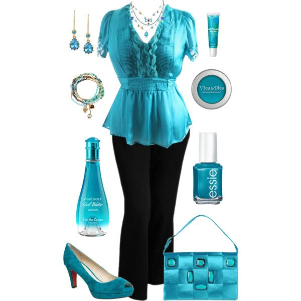 Plus Size Work in Teal
